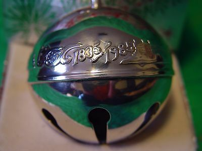 Wallace Silver Plated Sleigh Bell Ball 1985 150th Wallace Anniversary w/Box
