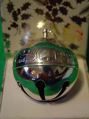 Wallace Silver Plated Sleigh Bell 1974 Festive Toys w/Box P3