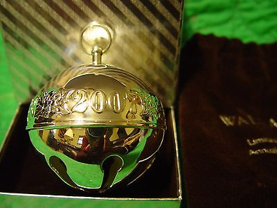 Wallace Silver Plated Christmas Sleigh Bell 2007 Candy Canes  w/Box