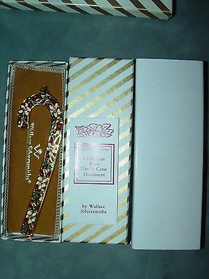 Wallace Candy Cane Christmas Ornament Christmas Rose 1988