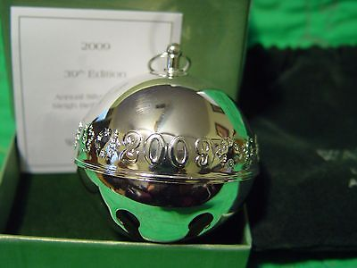 Wallace Silver Plated Christmas Sleigh Bell 2009 Snowflakes  w/Box