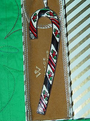 Wallace Candy Cane Christmas Ornament Christmas Peppermint 1981