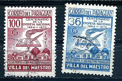 Paraguay 2 Aereo stamps 1969  Used