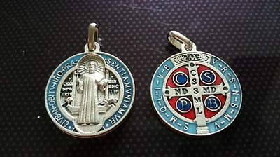 St Benedict necklace charms Catholic Saint charm Vatican City medal medallion