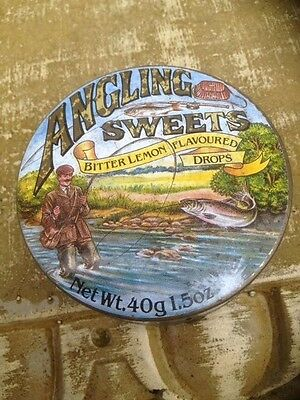Vintage Angling/ fishing Sweets tin , very attractive collectors item