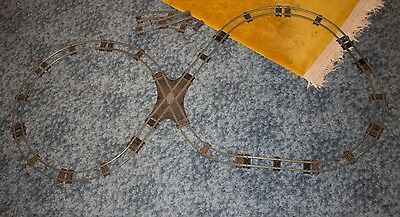 Hornby Straight and Curved O Gauge Track with vintage flat crossing