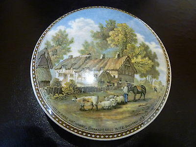 Prattware Potlid On Base. ( The Residence Of Anne Hathaway,shakespeares Wife )