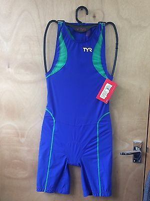 TYR Mens Tri Suit (Back zip) Short John - Medium