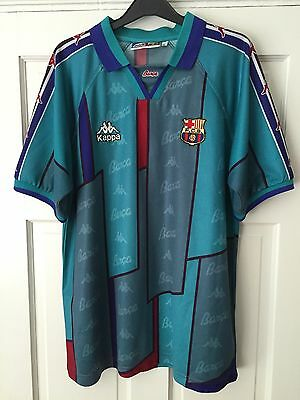 Barcelona Kappa Away Shirt Size L 1996/1997 Number 9 Ronaldo