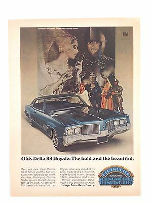 1969 Oldsmobile Delta 88 Royale Original Print Ad GM Car Automobile