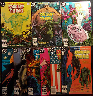 Swamp Thing 37, 38 (1st/2nd Constantine), 39,40,41,42,43,44, New Old Stock, WP