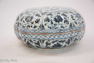 Chinese Porcelain Blue and White Phoenix Food Box