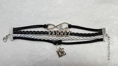 Ferret, Small Pet, Bracelet Black and Silver with Charms