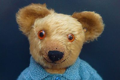 Adorable Rare 1920's Antique Chad Valley Vintage Early Button Old Teddy Bear