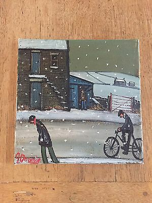"""James Downie Original Oil Painting Northern Art - """"Sheltering From Snow"""""""