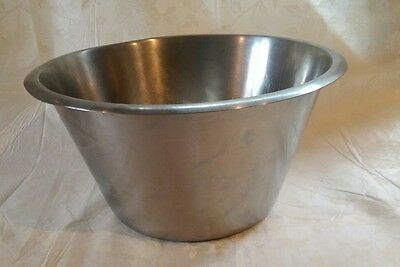 Large Rostfritt Stal Stainless Steel 8 Litre Bowl - Prep/Serving/Mixing/Salad