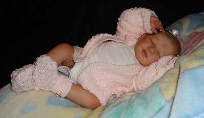 TOO CUTE Knit Baby Doll Outfit For Reborn PINK