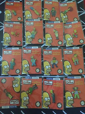 The Simpsons Who's Who Of Springfield Pin Set Unopened