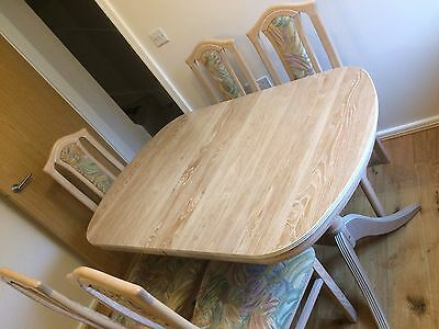 Limed Oak Dining Furniture. Extending Table & 6 Chairs