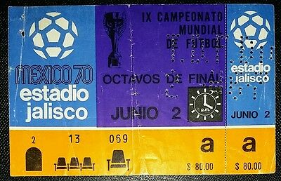 Mexico 70  WORLD CUP ticket England v Romania 100% Original authentic unused