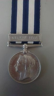 Egypt Medal - Named - Corpl W J Clarke 65 Regt with Suakin 1885 clasp