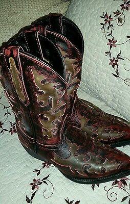 New Dan Post Western Cowgirl Cowboy Boots Youth  Size 1