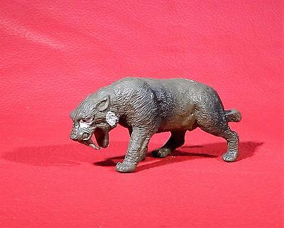 1972 Inpro SMILODON Plastic SMALL DINOSAUR vintage collectable toy Sabretooth