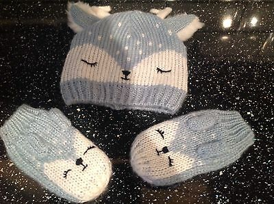 Girls marks and spencer hat and gloves set age 3,4,5,6