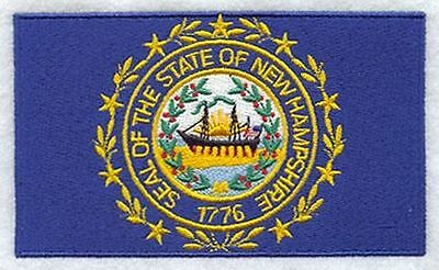 """New Hapshire State Flag Embroidered Patch 3.3"""" x 2"""""""