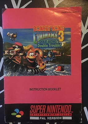 Donkey Kong Country 3 Snes Instruction Booklet