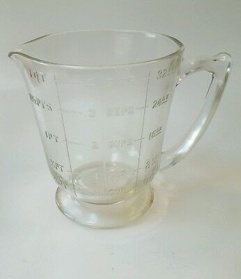 Mckee depression glass 4 cup footed measuring cup hard to find clear.