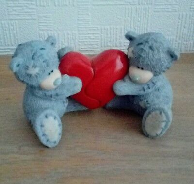"Me To You Tatty Teddy Bear Figurine ""LOVE HEART"".....Excellent Condition"