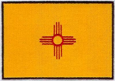 """New Mexico State Flag Embroidered Patch 3.1"""" x 2.1"""""""