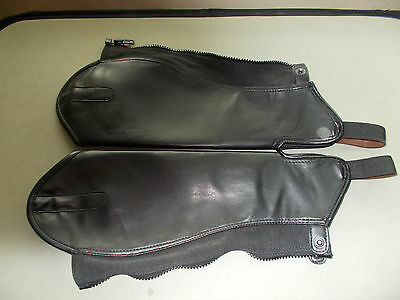 Shires Equestrian Riding Synthetic Leather Show Adults Half Chaps size small
