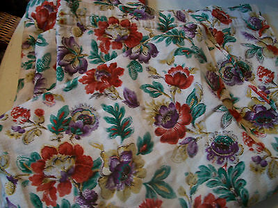 Vintage 1950s fabric curtains, damaged for upholstery or sewing project
