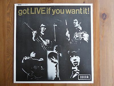 "Rolling Stones - Got Live If You Want It - 12"" EP - Excellent Condition"