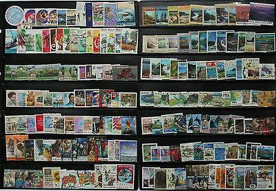 180 Used New Zealand stamps, all different.