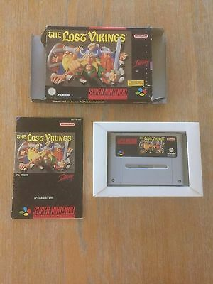The Lost Vikings Snes Game Super Nintendo Boxed *tested*