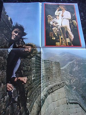 George Michael - Wham in China Fold Out Poster - Reverse Side Madonna