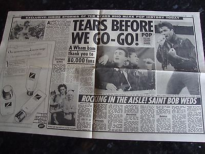 Wham - George Michael Newspaper Article from 1986 - Wham Final Concert Article
