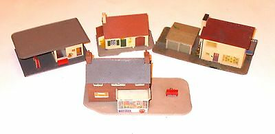 MODEL RAILWAY ASSORTED BUILDINGS - Qty 4  Gauge 00/ho