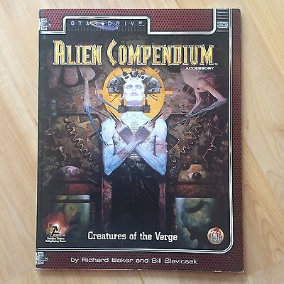 Alternity Star Drive Alien Compendium Accessory RPG SciFi Creatures of the Verge