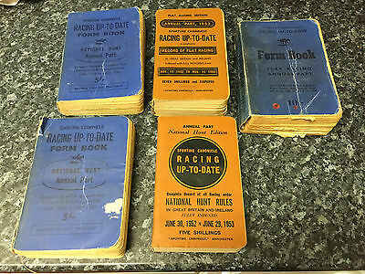 5 Sporting Chronicle Racing Up-To-Date form books 1950's
