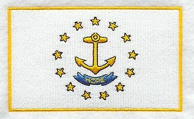 """Rhode Island State Flag Embroidered Patch 3.3"""" x 2"""""""