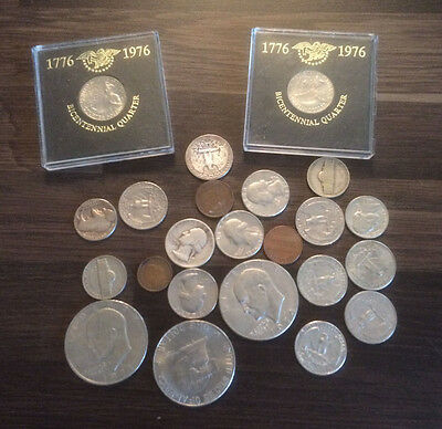JOB LOT OF AMERICAN COINS - vintage coin collection