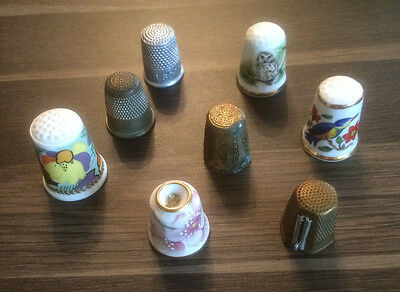 Job Lot Of Thimbles Rare And Unusual