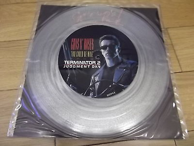 "Guns 'n' Roses You Could Be Mine 12"" Clear Vinyl Single Terminator 2"