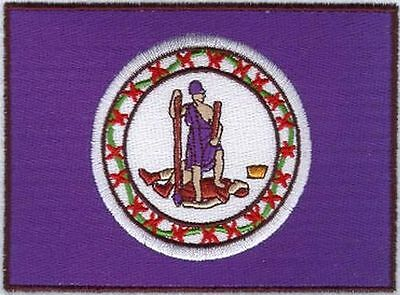 """Virginia State Flag Embroidered Patch 3"""" x 2.2"""""""