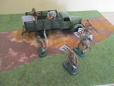 Britains Deetail Ww2 Japanese Infantry  And Wagon - New - Superb 1:32 Scale