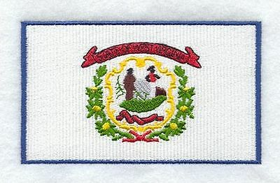 "West Virginia State Flag Embroidered Patch 3"" x 1.8"""